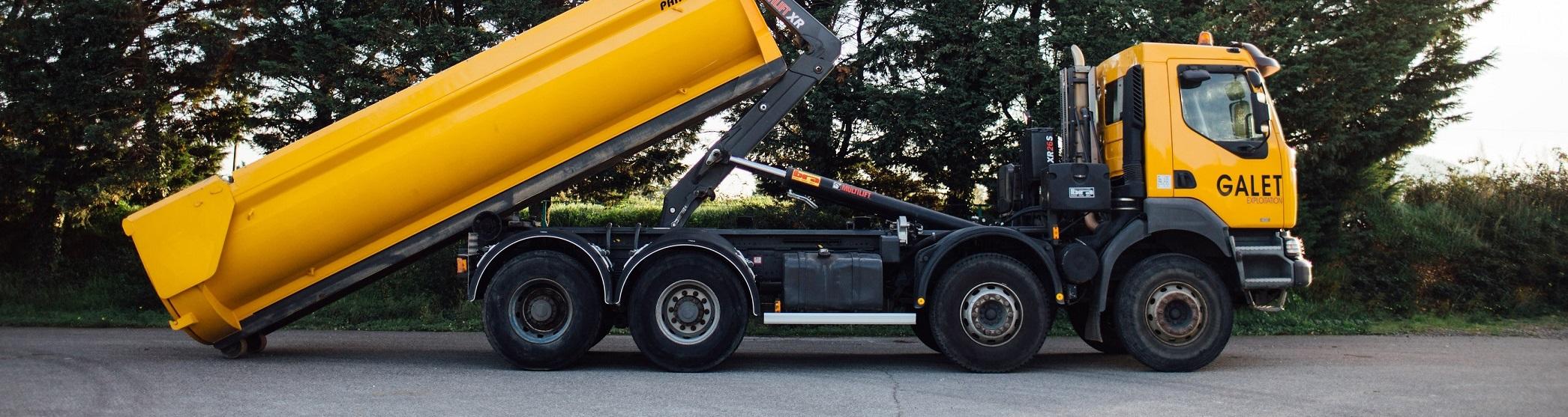 Camion benne 8x4 ampirol Renault Kerax