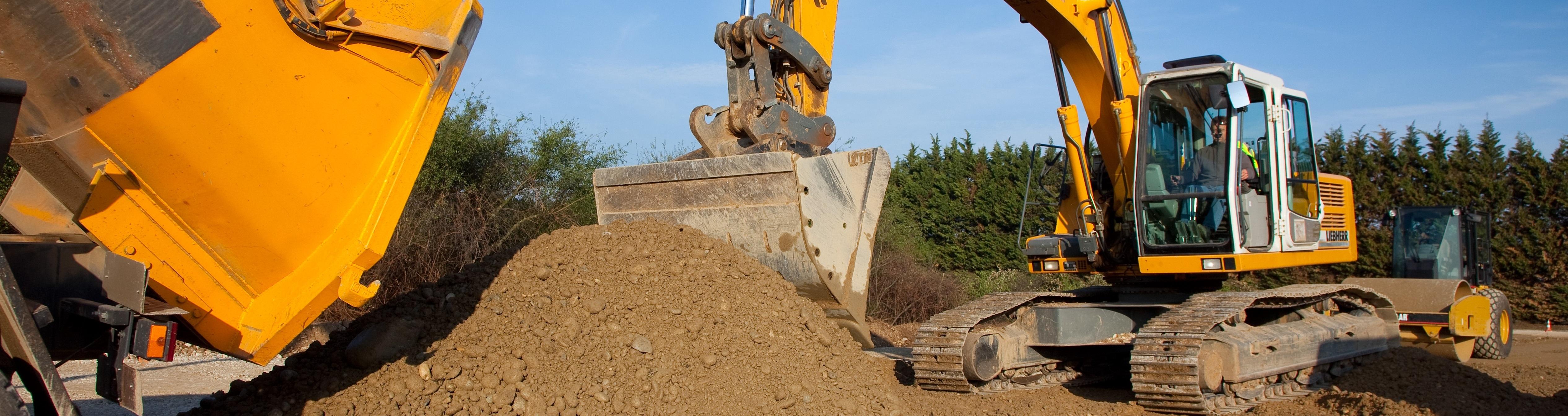Pelle à chenille Liebherr 914 utilisée pour les chantiers de terrassement